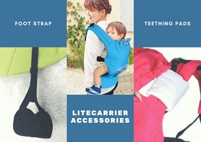 <p>LiteCarrier Accessories: Teething Pads + FootStrap Bundled</p>